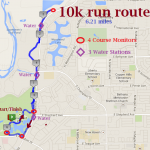 10k (6.2 miles) approximate course.